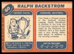 1968 Topps #60  Ralph Backstrom  Back Thumbnail