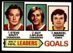 1977 Topps #1   -  Steve Shutt / Guy LaFleur / Marcel Dionne NHL Goals Leaders Front Thumbnail