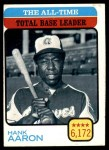 1973 Topps #473   -  Hank Aaron All-Time Total Base Leader Front Thumbnail