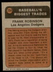 1972 Topps #754   -  Frank Robinson Traded Back Thumbnail
