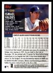 2000 Topps Traded #109 T Ismael Valdes  Back Thumbnail