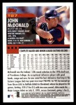 2000 Topps Traded #27 T John McDonald  Back Thumbnail