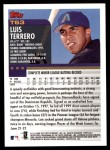 2000 Topps Traded #63 T Luis Terrero  Back Thumbnail