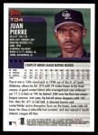 2000 Topps Traded #34 T Juan Pierre  Back Thumbnail