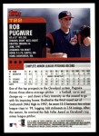2000 Topps Traded #22 T Rob Pugmire  Back Thumbnail
