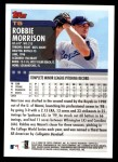 2000 Topps Traded #5 T Robbie Morrison  Back Thumbnail