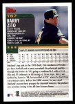 2000 Topps Traded #67 T Barry Zito  Back Thumbnail