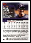 2000 Topps Traded #118 T Brian Hunter  Back Thumbnail