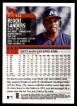 2000 Topps Traded #110 T Reggie Sanders  Back Thumbnail