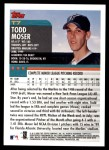 2000 Topps Traded #7 T Todd Moser  Back Thumbnail