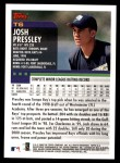 2000 Topps Traded #6 T Josh Pressley  Back Thumbnail