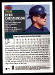 2000 Topps Traded #68 T Ryan Christianson  Back Thumbnail