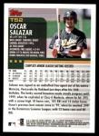 2000 Topps Traded #52 T Oscar Salazar  Back Thumbnail