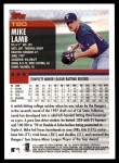 2000 Topps Traded #80 T Mike Lamb  Back Thumbnail