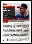 2000 Topps Traded #39 T Tony Pena Jr.  Back Thumbnail