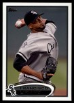 2012 Topps Update #1  Francisco Liriano  Front Thumbnail