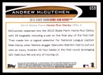 2012 Topps Update #9  Andrew McCutchen  Back Thumbnail
