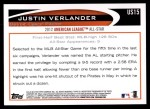 2012 Topps Update #15  Justin Verlander  Back Thumbnail