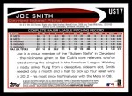 2012 Topps Update #17  Joe Smith  Back Thumbnail