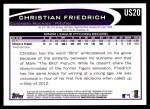 2012 Topps Update #20  Christian Friedrich  Back Thumbnail