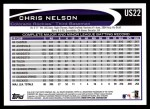 2012 Topps Update #22  Chris Nelson  Back Thumbnail