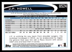 2012 Topps Update #24  J.P. Howell  Back Thumbnail