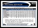 2012 Topps Update #33  Nathan Eovaldi  Back Thumbnail