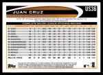 2012 Topps Update #36  Juan Cruz  Back Thumbnail