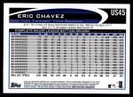2012 Topps Update #45  Eric Chavez  Back Thumbnail