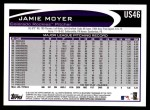 2012 Topps Update #46  Jamie Moyer  Back Thumbnail