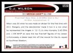 2012 Topps Update #50  C.J. Wilson  Back Thumbnail