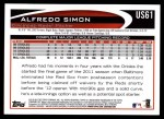 2012 Topps Update #61  Alfredo Simon  Back Thumbnail