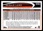 2012 Topps Update #63  Gerald Laird  Back Thumbnail