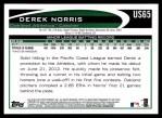 2012 Topps Update #65  Derek Norris  Back Thumbnail