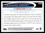 2012 Topps Update #68  Fernando Rodney  Back Thumbnail