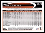 2012 Topps Update #79  Mike Baxter  Back Thumbnail