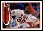 2012 Topps Update #80  Jered Weaver  Front Thumbnail