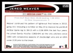 2012 Topps Update #80  Jered Weaver  Back Thumbnail