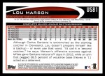 2012 Topps Update #81  Lou Marson  Back Thumbnail