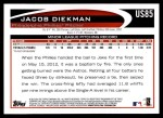 2012 Topps Update #85  Jacob Diekman  Back Thumbnail
