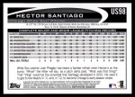 2012 Topps Update #98  Hector Santiago  Back Thumbnail