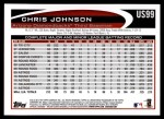 2012 Topps Update #99  Chris Johnson  Back Thumbnail