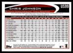 2012 Topps Update #99  Chris Johnson  Back Thumbnail