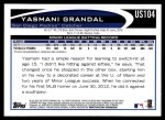 2012 Topps Update #104  Yasmani Grandal  Back Thumbnail