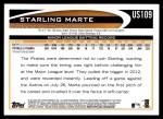 2012 Topps Update #109  Starling Marte  Back Thumbnail