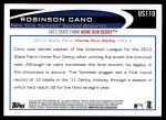 2012 Topps Update #110  Robinson Cano  Back Thumbnail