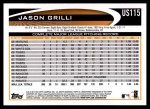 2012 Topps Update #115  Jason Grilli  Back Thumbnail