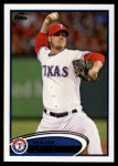 2012 Topps Update #125  Mark Lowe  Front Thumbnail