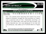 2012 Topps Update #128  Dan Straily  Back Thumbnail