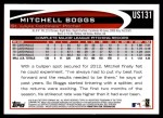 2012 Topps Update #131  Mitchell Boggs  Back Thumbnail